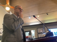 K. Friese representative Joe Cantalupo addressed City Council on Feb. 19. (Brian Rash/Community Impact Newspaper)