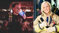 Amanda Erekson (left) became Spring Fire Department's first paid female firefighter in 2015, while Shari Sanchez (right) became Klein Fire Department's first paid female firefighter in January. (Courtesy Spring and Klein fire departments)
