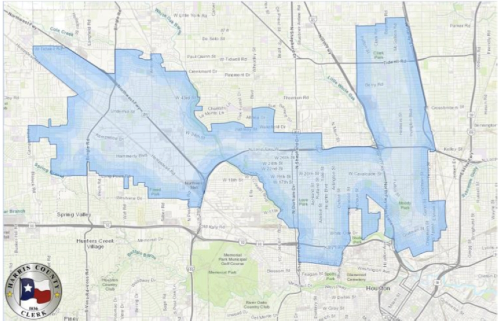 District 148 covers parts of the Heights, Northwest Houston and Northside. (Courtesy Harris County Clerk)