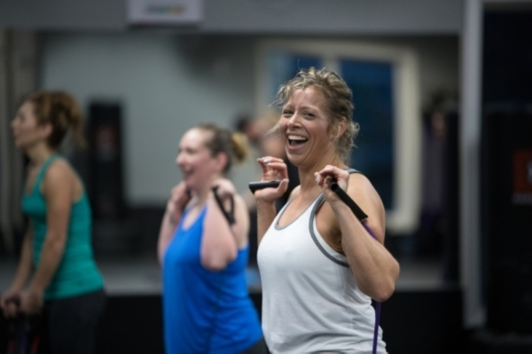 In addition to kickboxing and strength training classes, the franchise offers a 10-week group fitness program that incorporates personal coaches, body scanning and nutrition coaching. (Courtesy Farrell's Extreme Bodyshaping)