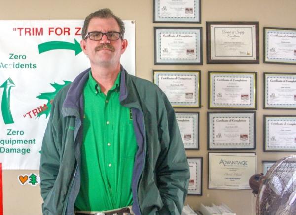 David Mauk owns and operates Jones Road Tree Service. (Danica Smithwick/Community Impact Newspaper)