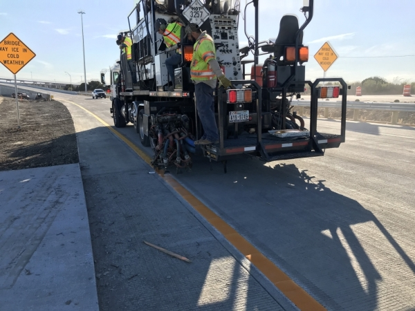 The first of three new flyovers between SH 130 and Toll 290 opened Jan. 11. (Courtesy Central Texas Regional Mobility Authority)