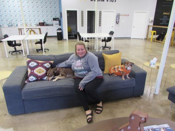 Jill Dretzka opened Work & Woof in 2018. (Photos by Nicholas Cicale/Community Impact Newspaper)