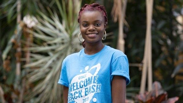 Adebisi Bashorun started University of Houston-Clear Lake's African Student Association in 2019. (Courtesy of University of Houston-Clear Lake)