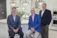 From left are: CEO Mike Moody, President Jeff Dye and Austin Division President Shay Brinkley. (Courtesy Newmark Homes)