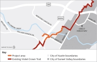 The Violet Crown Trail will be built through the city of Sunset Valley. (Source: City of Austin/Community Impact Newspaper)