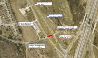 This map provides details on the Highway 195 and Berry Creek Drive project. (Courtesy city of Georgetown)