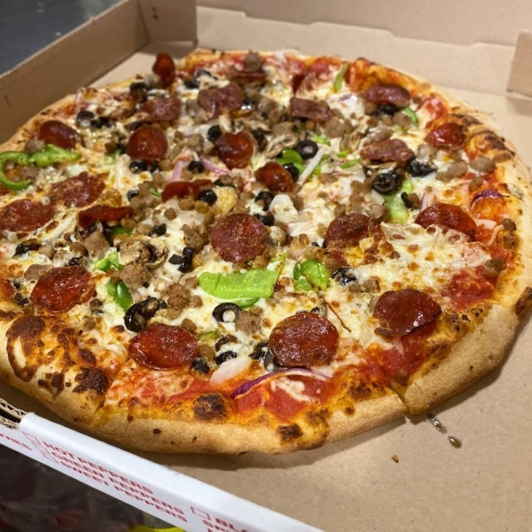 The business offers specialty and customizable pizzas. (Courtesy Mario's Pizza)
