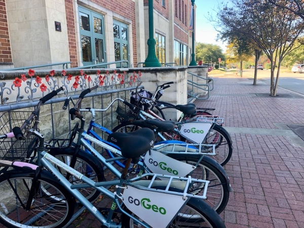 The future of GoGEO and public transportation in the city is one of many topics that will be reviewed and discussed as part of fiscal year 2020-21 budget planning. (Sally Grace Holtgrieve/Community Impact Newspaper)