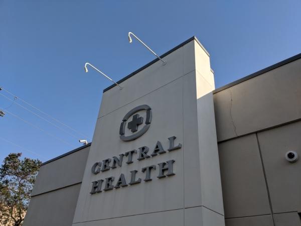 Central Health off East Cesar Chavez Street.