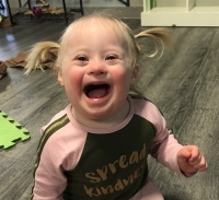 Liberty Litton, 2, of Cedar Park has been named one of 29 ambassadors worldwide for Nothing Down, an organization that aims to change the way Down syndrome is perceived. (Courtesy Nothing Down)