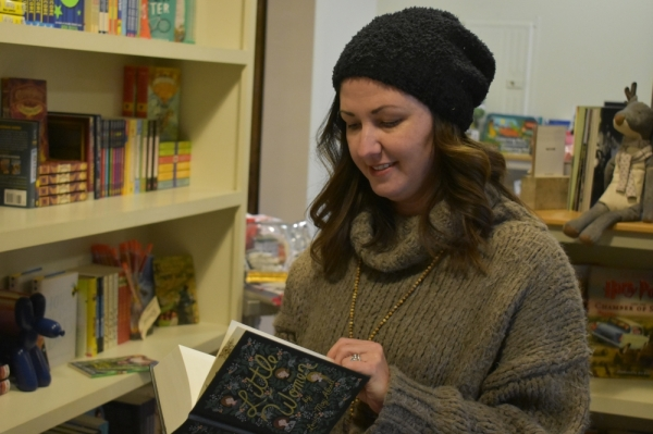 Owner Kelly Gore opened the doors of Bound Booksellers in the Westhaven community in November 2016.  (Photos by Alex Hosey/Community Impact Newspaper)