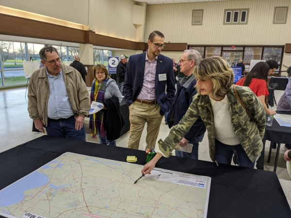 Lower Clear Creek and Dickinson Bayou Watershed Study open house, Walter Hall Park