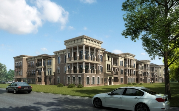 The Royalton at Kingwood, a high-end multifamily development, will open in March. (Courtesy SWBC Real Estate)