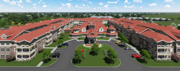 The facility will offer 510 independent living units for seniors to rent as well as 75 villa-style condominiums for seniors to purchase. (courtesy Country Lane)