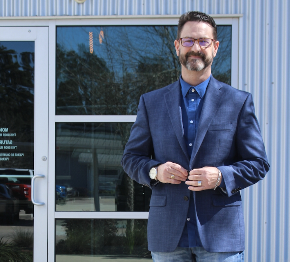 Jeff Springer, founder of Suit Up Ministries, said he hopes to transform Montgomery County by rebuilding families. (Eva Vigh/Community Impact Newspaper)
