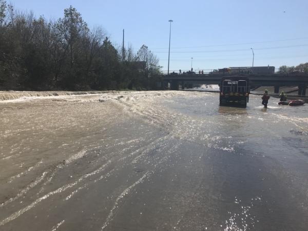 Houston water main flooding