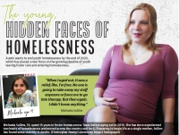 •Michaela Sullins, 19, spent 15 years in foster homes across Texas before aging out in 2018. She has since experienced two bouts of homelessness and moved across the country and back. Preparing to begin life as a single mother, Sullins has found some stability in Austin. (Christopher Neely/Community Impact Newspaper)