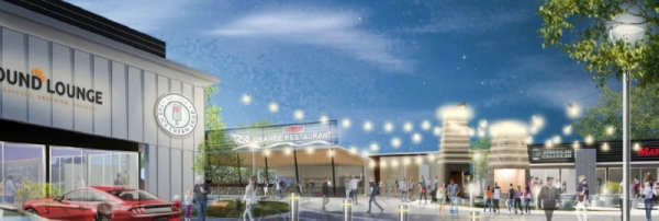 Rio Grande Tex-Mex Restaurant will relocate to its new location in Highlights of Hutto Plaza on March 3. The building was designed by Austin-based Urban Foundry Architecture. (Rendering courtesy Urban Foundry Architecture)