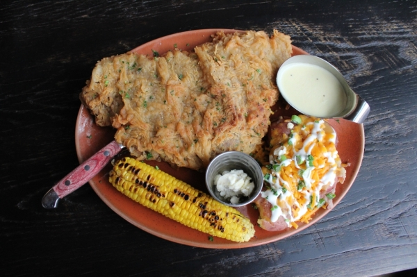 Owner James Verfurth said the Dallas Chicken Fried Steak ($12.99) is one of the most popular menu items. (Photo by Anna Herod/Community Impact Newspaper)