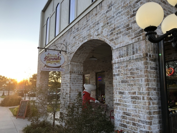 Craving Kernels Gourmet Popcorn and Treats is located on Market Street in Tomball. (Carrie Taylor/Community Impact Newspaper)