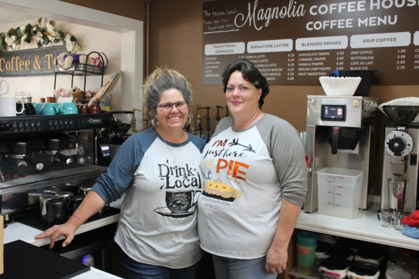 Co-owners Janna Hartigan (left) and Vickie Patterson opened the bistro in May 2019. (Carrie Taylor/Community Impact Newspaper)