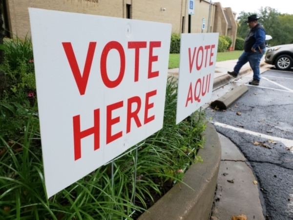 Travis County registered voters can cast their ballot at any polling place on election day. Polls are open from 7 a.m.-7 p.m. on March 3. (Ali Linan/Community Impact Newspaper)
