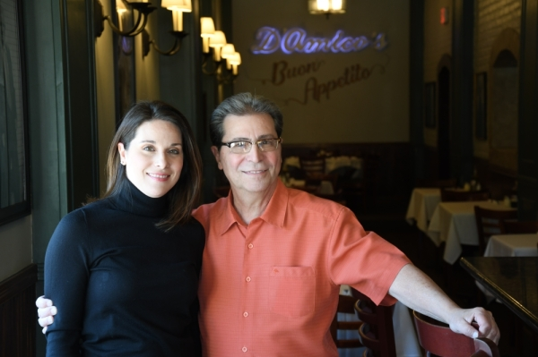 The daughter-father duo Brina and Nash D'Amico co-own D'Amico's Italian Market Cafe, which marked a return to the Rice Village for the family restaurant. (Photos by Hunter Marrow/Community Impact Newspaper)