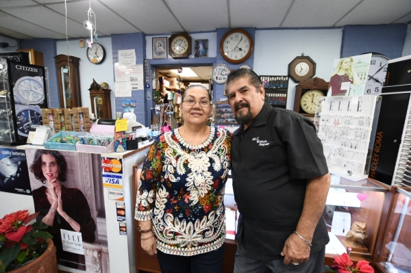 Adelaida and Homero Capetillo have co-owned and run the repair shop since 1995. (Photos by Hunter Marrow/Community Impact Newspaper)