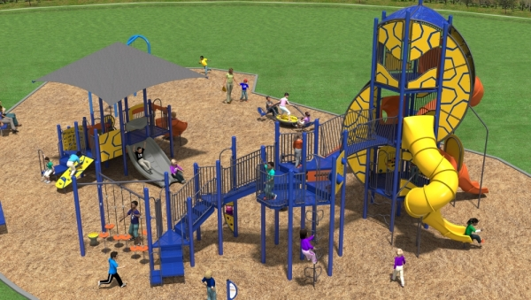 Wyndsor Park will get new playground equipment, as well as updated walkways and ramps. (Rendering courtesy Child's Play Inc., Richardson Parks and Recreation)