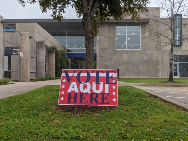 Voting location at North Austin YMCA