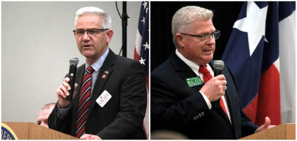From left: Billy Graff and Robert Walker are both running in the Republican primary to fill the seat of retiring Precinct 1 Commissioner Mike Meador. (Andy Li/Community Impact Newspaper)