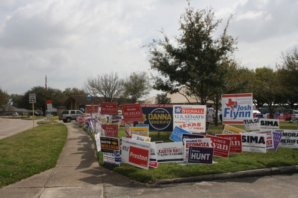 Six Democratic candidates and three Republican candidates are competing in primary elections for Harris County Precinct 3 commissioner. (Shawn Arrajj/Community Impact Newspaper)