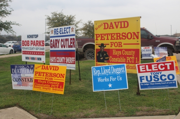 Two Democrats and two Republicans are squaring off for Hays County sheriff. (Evelin Garcia/Community Impact)