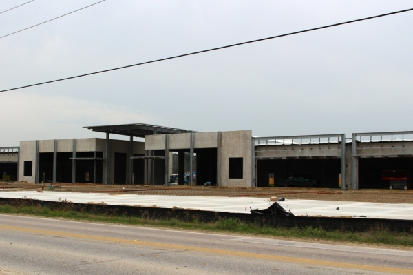 Shops on Gosling will be completed in April. (Ben Thompson/Community Impact Newspaper)
