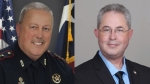 Incumbent Mark Herman (left) and challenger Chris Bounds (right) are vying for a place as the Republican candidate for Harris County Precinct 4 Constable's Office in the March 3 primary election. (Courtesy Mark Herman, Chris Bounds)