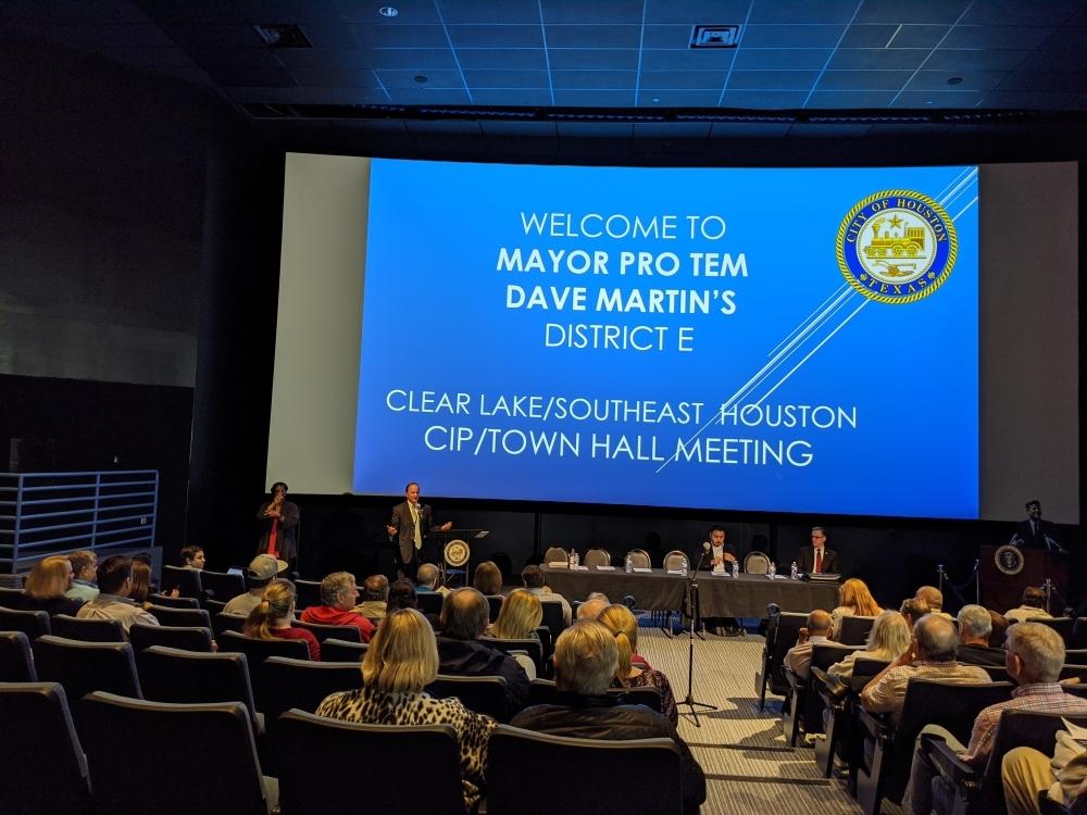 Clear Lake, Houston, Dave Martin, Houston City Council, Houston City Council District E, homelessness, panhandling, town hall