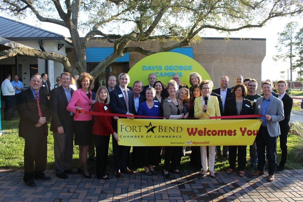 The Child Advocates of Fort Bend nonprofit leaders hosted a ribbon-cutting celebration at its renovated campus in Rosenberg March 5. (Beth Marshall/Community Impact Newspaper)