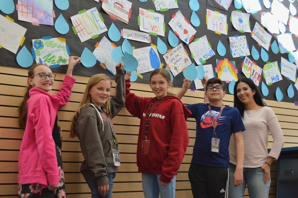 "Sixth-grade students from Pieper Ranch Middle School participated in ""Water Week"" to raise funds to construct a well in Rwanda. (Courtesy Comal ISD)"