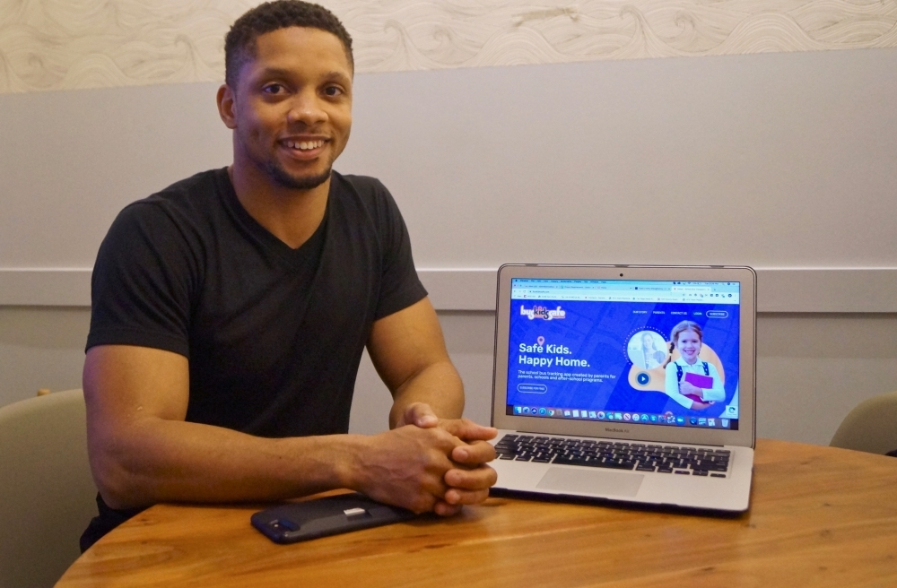"""We don't want to replace a driver with technology, but at the same time we want to hold them  accountable while also helping them out, as well,"" said Daniel Griggs, creator of the Bus Safe Kids app. (Kelsey Thompson/Community Impact Newspaper)"