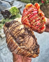 CroCream flavors include caramel macchiato and peanut butter & jelly. (Courtesy Churned Creamery)