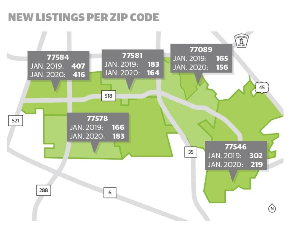 ZIP codes map PLF