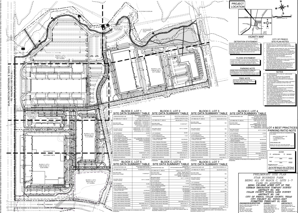 star business park site plan