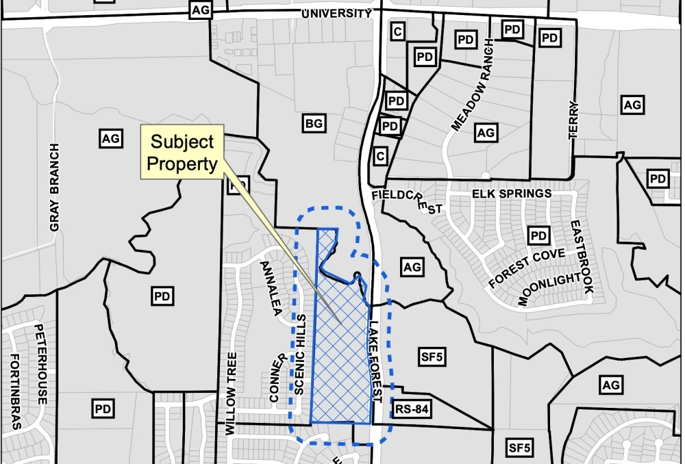 Pecan Hill would be located on the west side of Lake Forest Drive and a half mile south of University Drive. (courtesy city of McKinney)