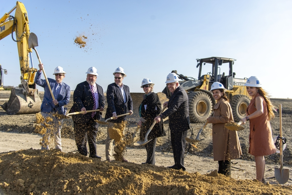 Collin College officials held a groundbreaking ceremony for the school's new Farmersville campus in December. It is set to open in fall 2021. (Courtesy Collin College)