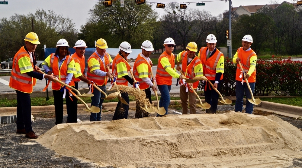 The city of Round Rock, the Texas Department of Transportation and Williamson County celebrated the kickoff of its RM 620 roundabout project with a groundbreaking ceremony on March 11. (Kelsey Thompson/Community Impact Newspaper)