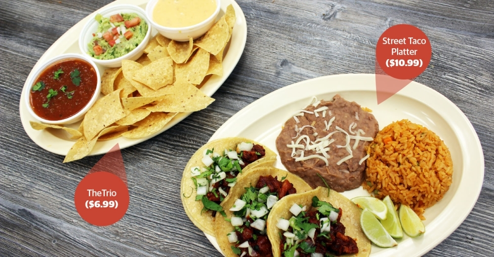 Tacos Y Mas specializes in authentic Mexican street tacos. (Olivia Lueckemeyer/Community Impact Newspaper)