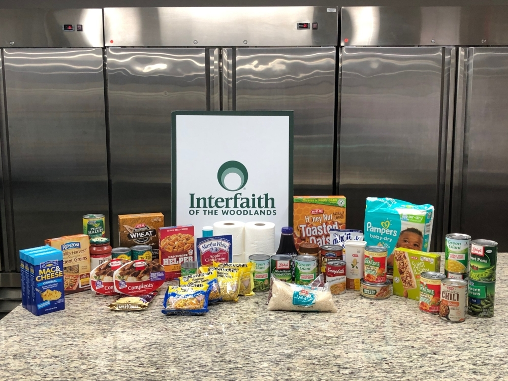 Interfaith of The Woodlands will provide bags of essentials to help families in need of food. (Courtesy Interfaith of The Woodlands)
