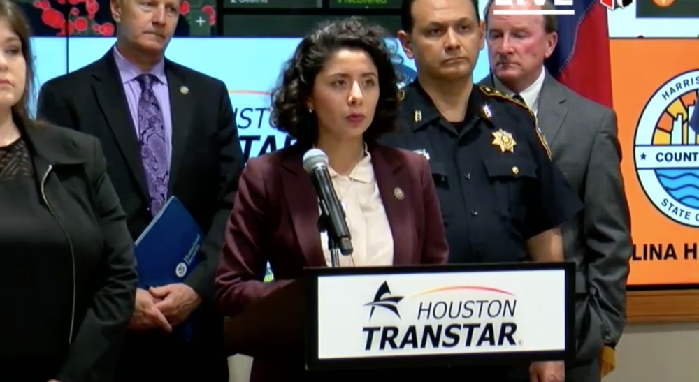 Harris County Judge Lina Hidalgo announces that all bars in Harris County must close by 8 a.m. March 16 for 15 days. In the same period, restaurants must only offer takeout.
