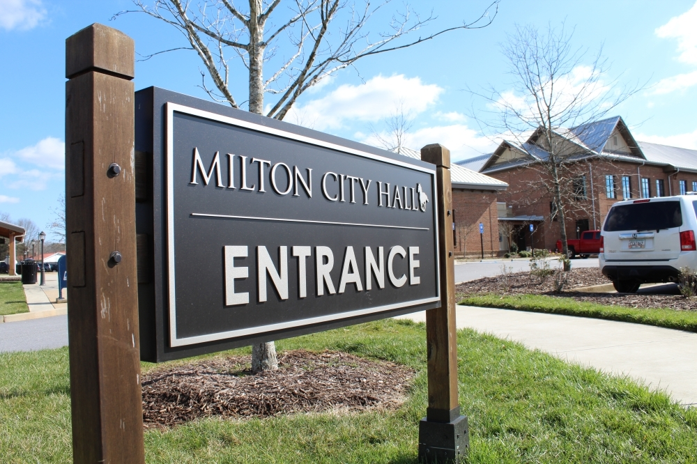 Milton City Council members unanimously passed a 30-day emergency ordinance March 16 that canceled all non-essential city meetings and allows council members to meet only on coronavirus-related matters. (Kara McIntyre/Community Impact Newspaper)